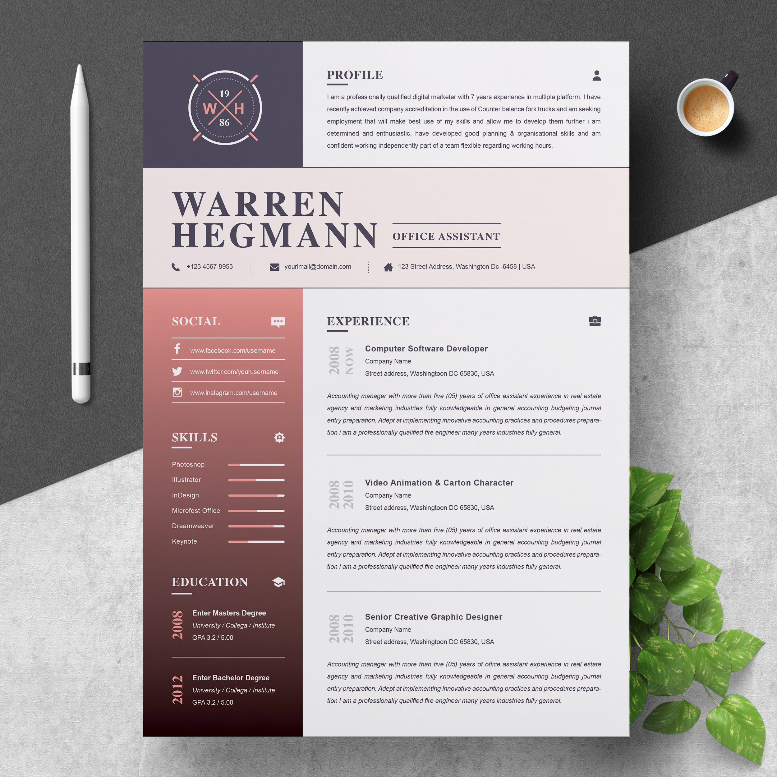 Let us inspire you with the best resume tips you could ask for! Resume Template Modern Creative Free Resumes Templates Pixelify Net