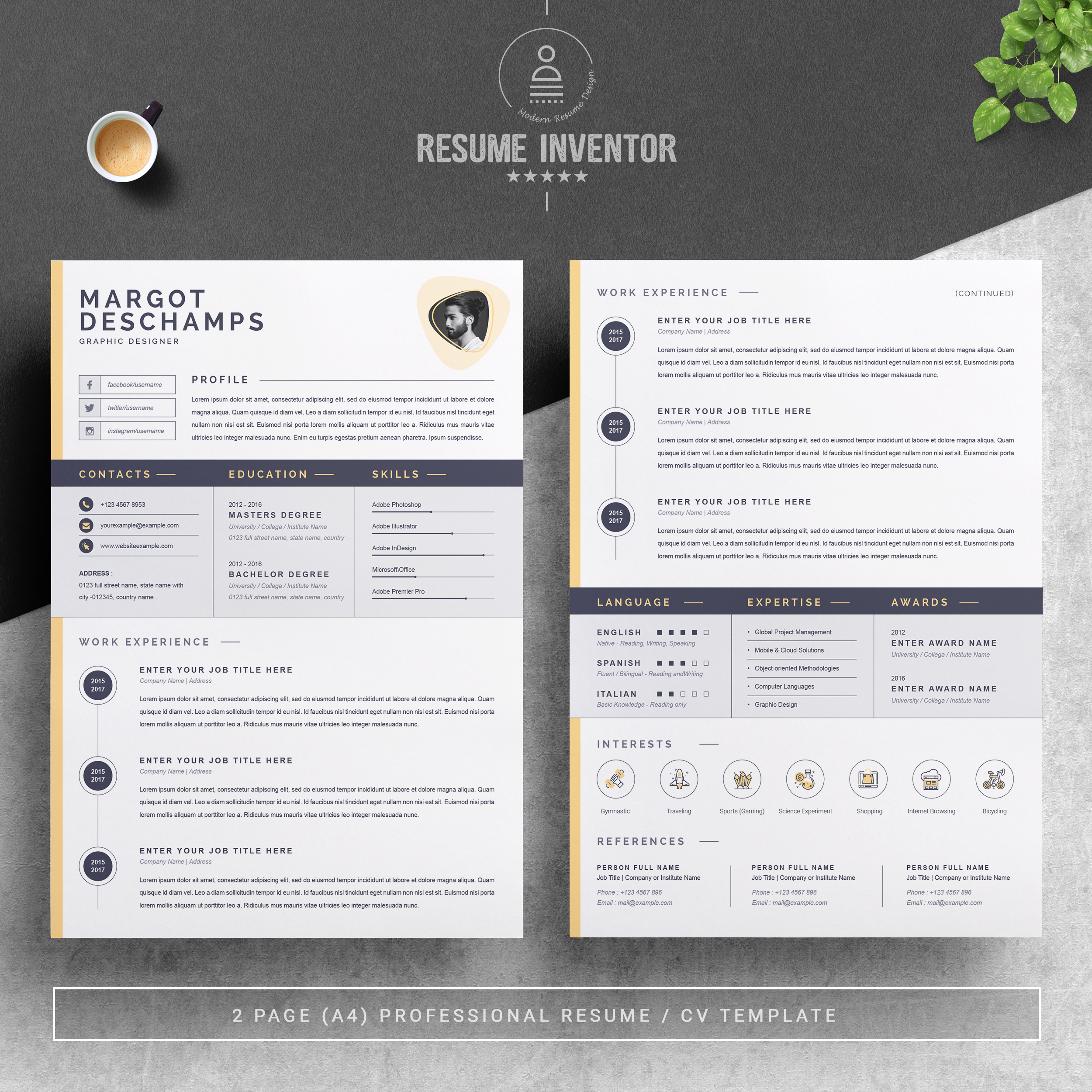 """If every bullet in your resume starts with """"responsible for,"""" Professional Resume Template Free Resumes Templates Pixelify Net"""
