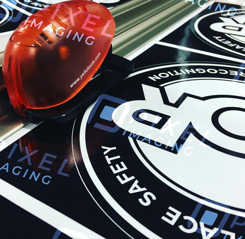 Custom-printed vinyl stickers/decals