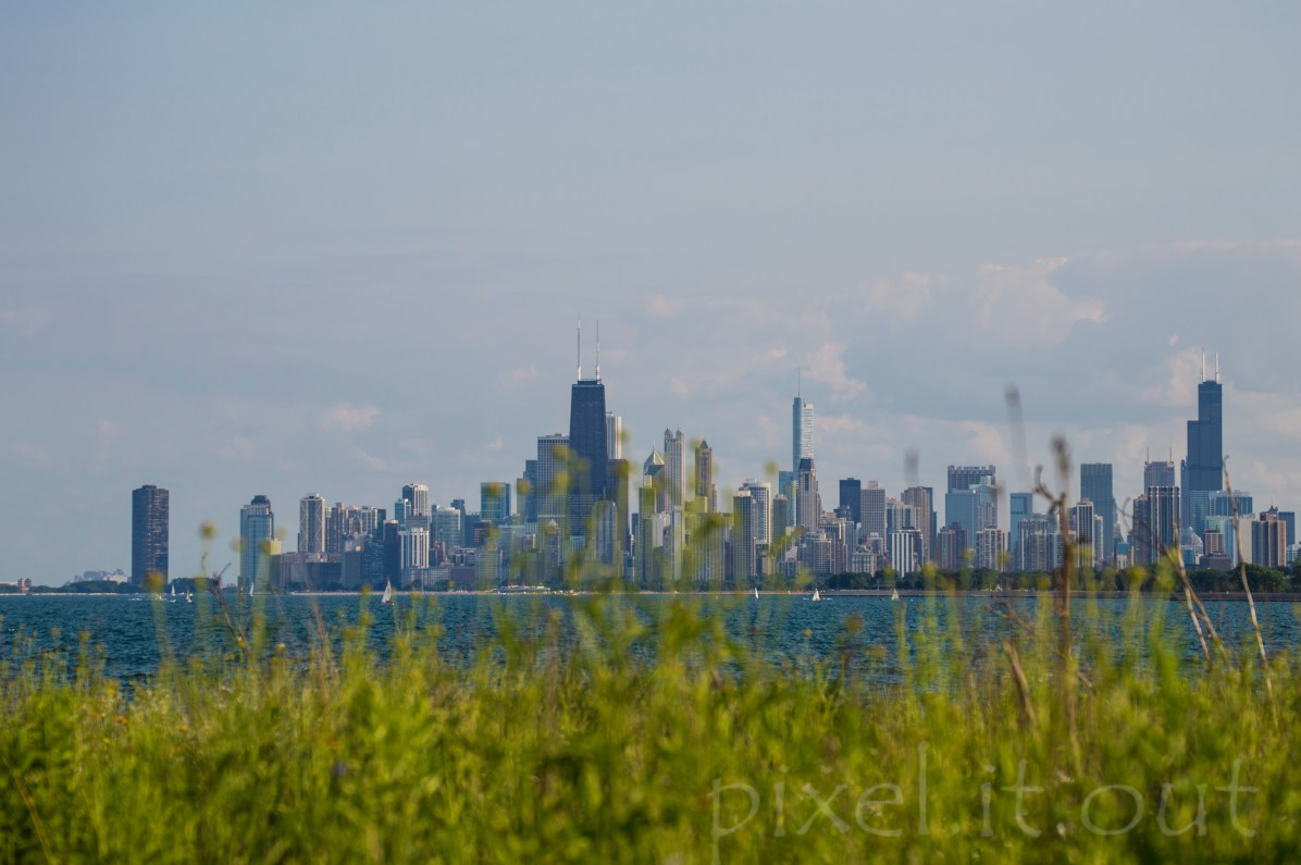 as seen from Montrose harbor