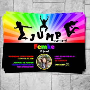 uitnodiging jump party