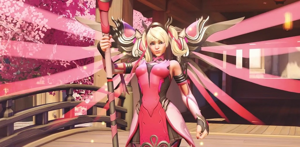 Limited Overwatch Pink Mercy Supports Breast Cancer Research