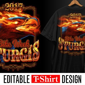 eagle, fire, burning, bike week, biker, tshirt design, design, fire, sturgis, design, template