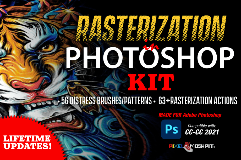 Photoshop Rasterization Kit