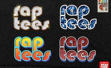Rap Tee's, Vintage Bootleg Styles for Affinity Photo