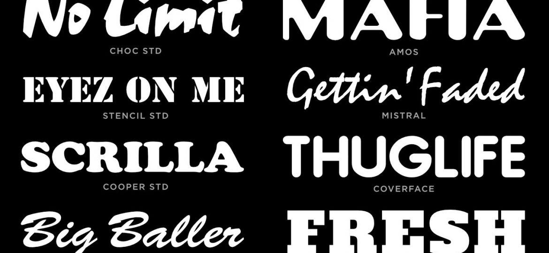 Rap Tees - Fonts