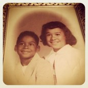 06.16 - Family. My mom & her brother way back!