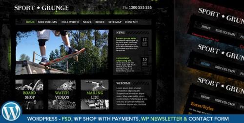 50_Sport and Grunge - WordPress Shop & Newsletter