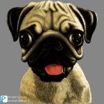 Finished 1 Digital Art Dog Pug PixelPinch