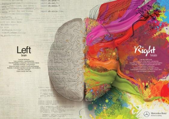 mercedes Benz left brain right brain