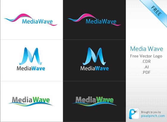 Media Wave Vector Logo Pack