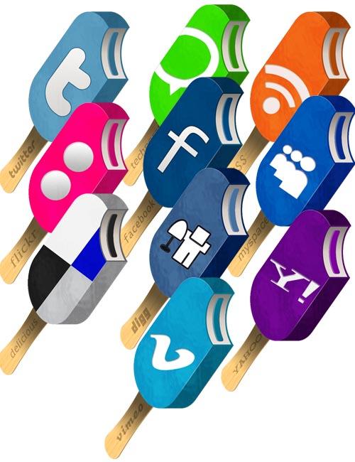 Ice cream social media icon pack