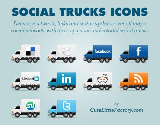 Social Trucks Icons social media