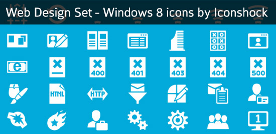 windows8 icons webdesign set