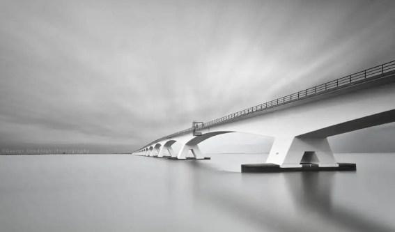 long exposure bridge photograph