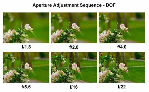 effect of aperture on depth of field
