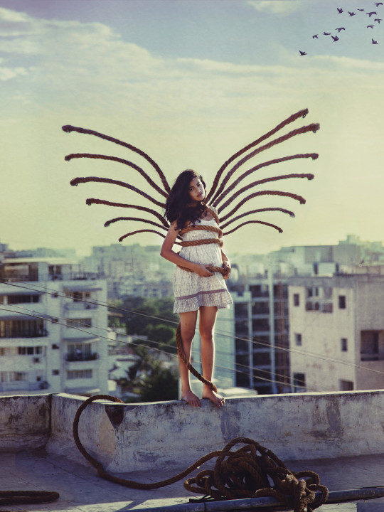 butterfly girl with wings