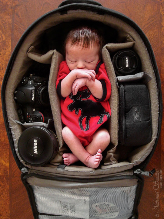 photographer baby in bag (2)