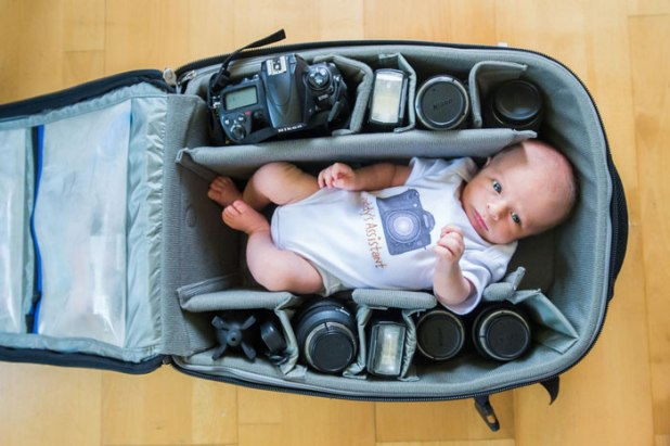 photographer baby in bag (5)