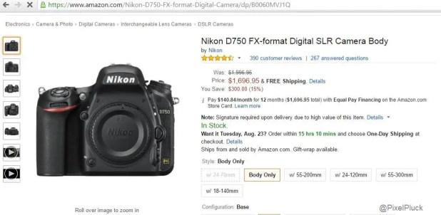 Nikon D750 Price Drops by $300