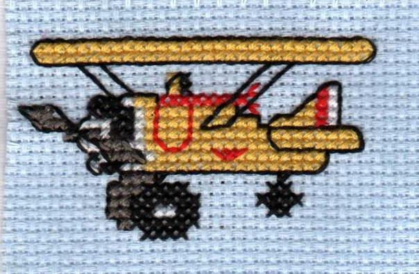 airplane cross stitch