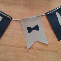 beer bottle bow tie birthday garland