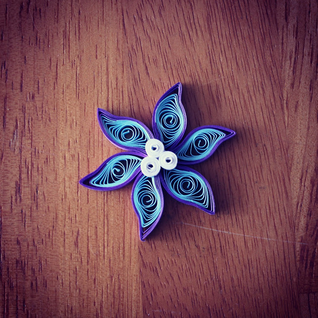 purple quilled flower