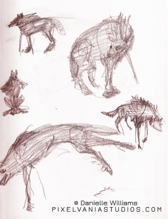 Vampire wolf form design tries
