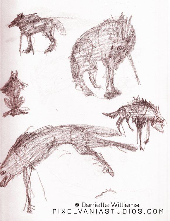 Vampire wolf form design tries