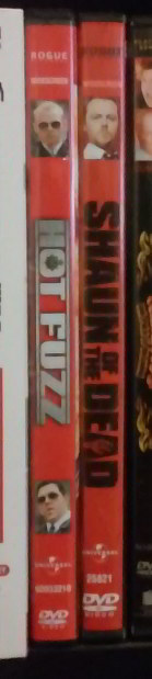 DVD Spines for HOT FUZZ and SHAUN OF THE DEAD