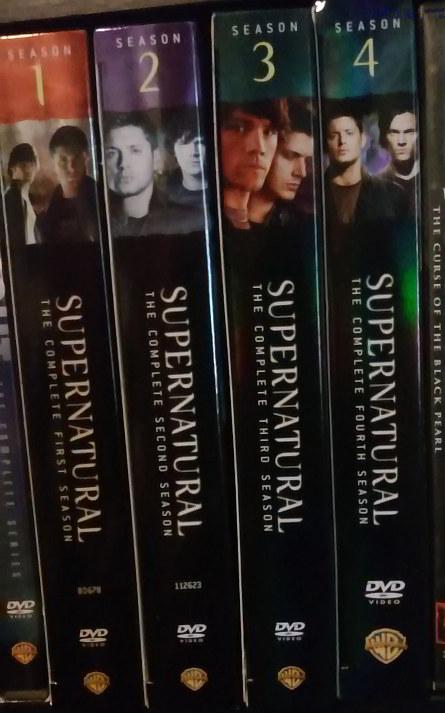 Spines for SUPERNATURAL seasons 1-4