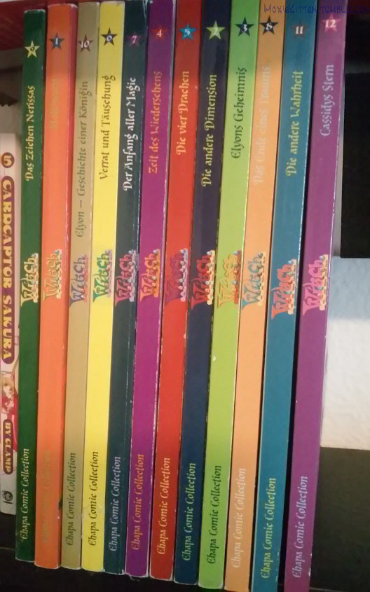 Book spines for the W.I.T.C.H. comic series