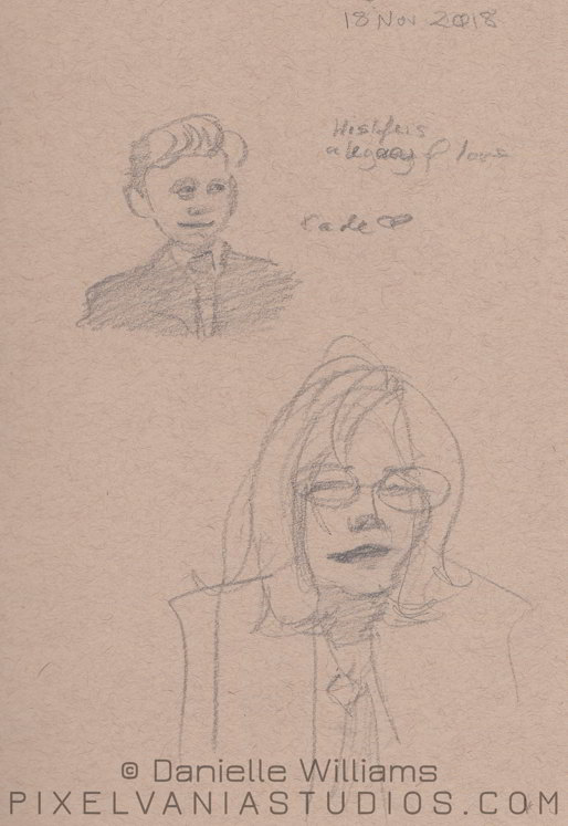 Quick portraits of a cute kid in a suit and a lady wearing glasses