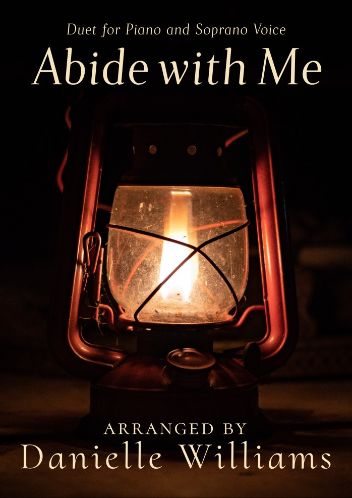 "Cover to the ""Abide with Me"" sheet music; a lantern in the darkness"