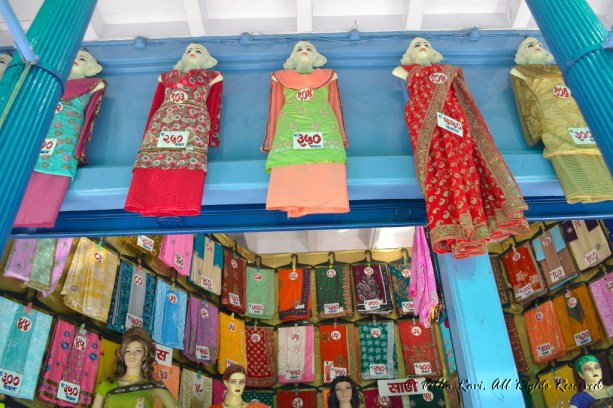 Typical small town Indian garment store Malvan