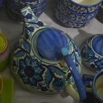 Indian pottery ceramic kettle