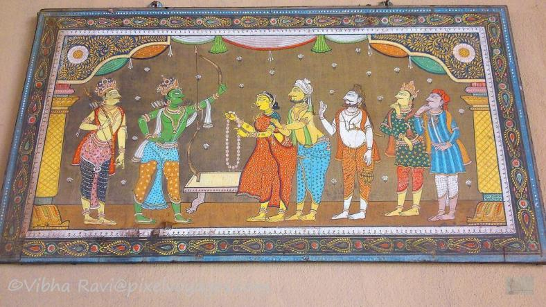 Sita Ram wedding scene on Pattachitra