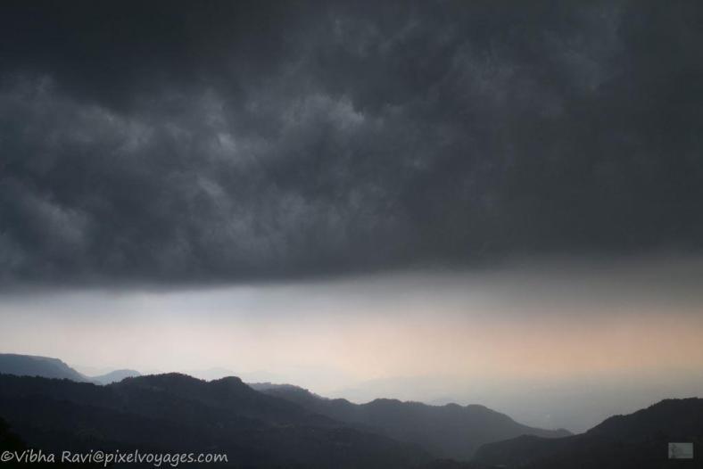 Dark clouds over Mussoorie