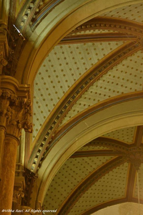 The domed ceiling sports an aesthetic look at CST, Mumbai