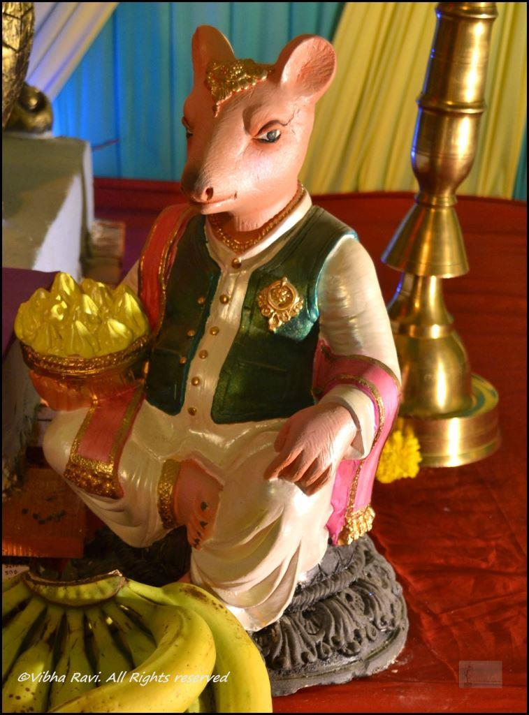 Mooshak (mouse) is Ganapati's trusted carrier and friend