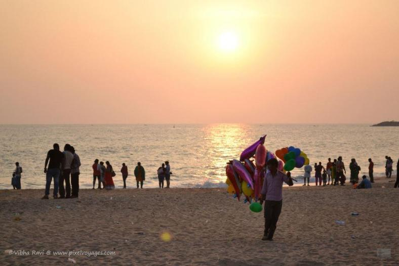 Or buy a balloon from this man at Kollam Beach to help him run his house?