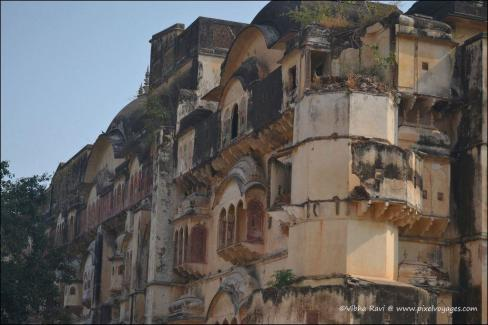 The rear portion of City Palace is in a shambles