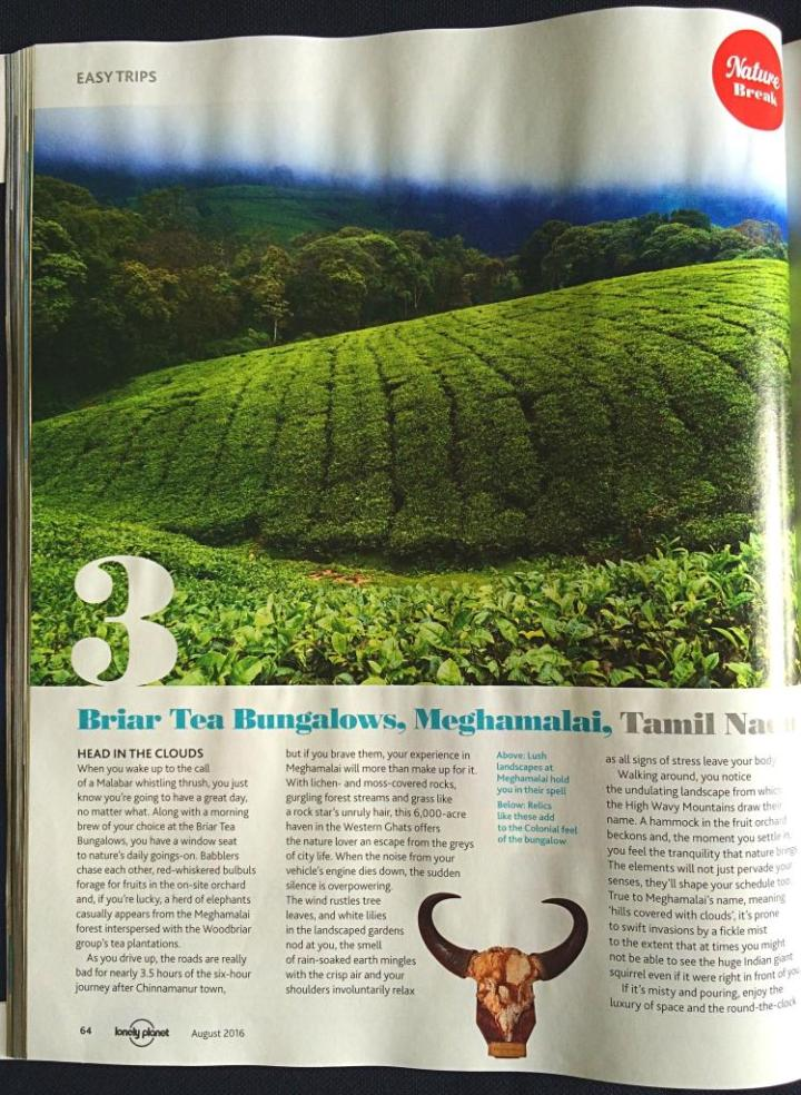 Lonely Planet Magazine India Meghamalai story Vibha Ravi-Page 1