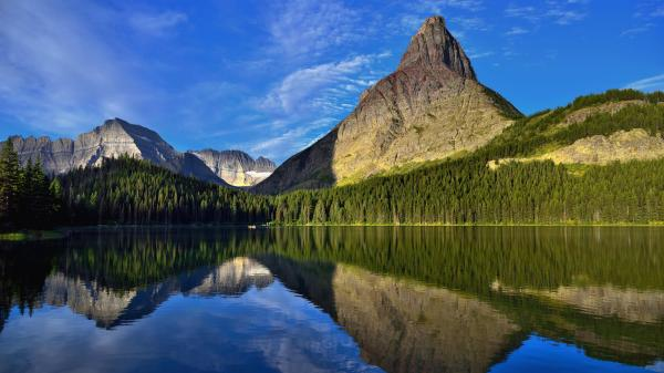 Rocky Mountains in Glacier National Park UHD 8K Wallpaper