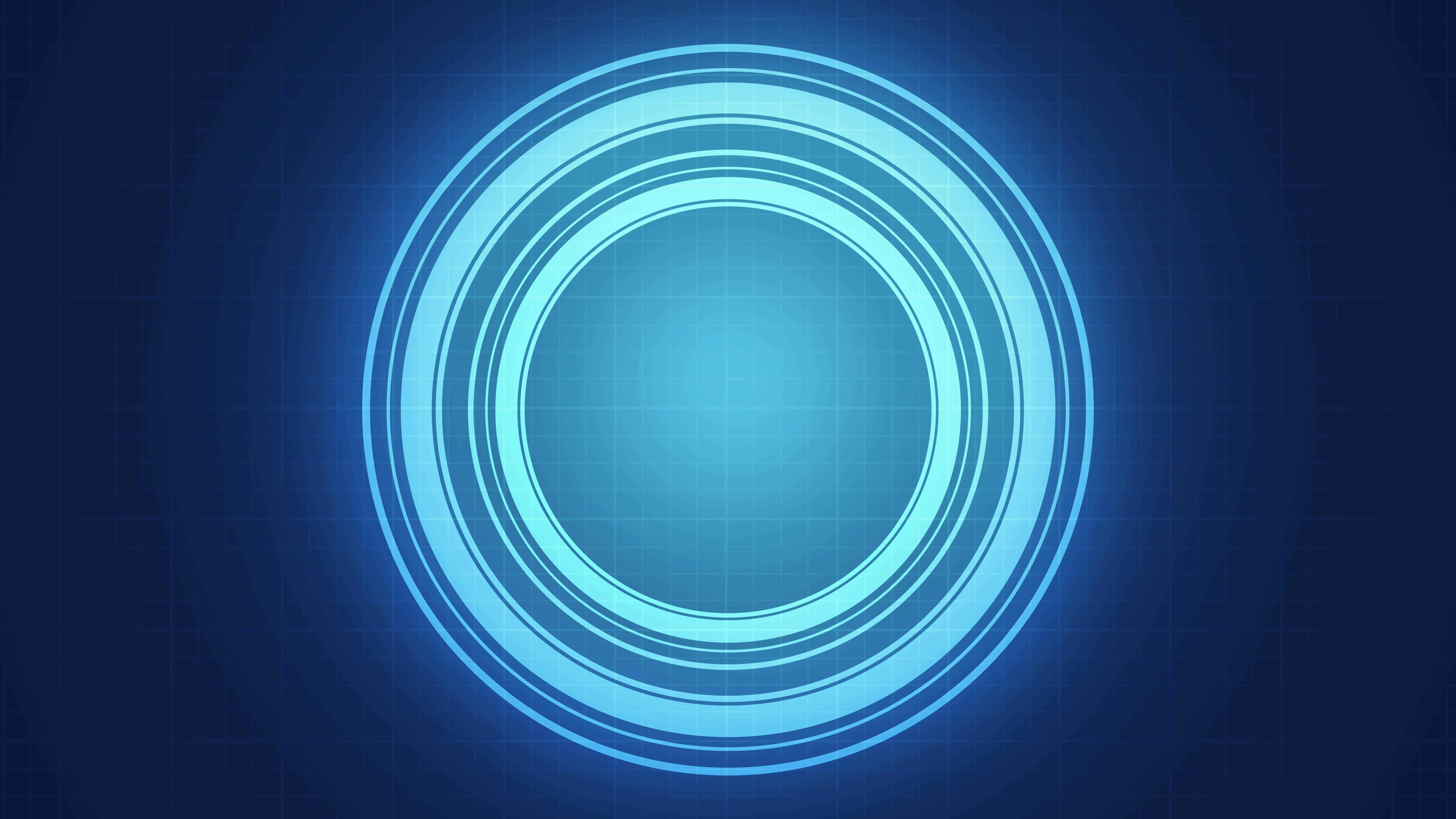 Abstract Blue Circles UHD 8K Wallpaper Pixelz