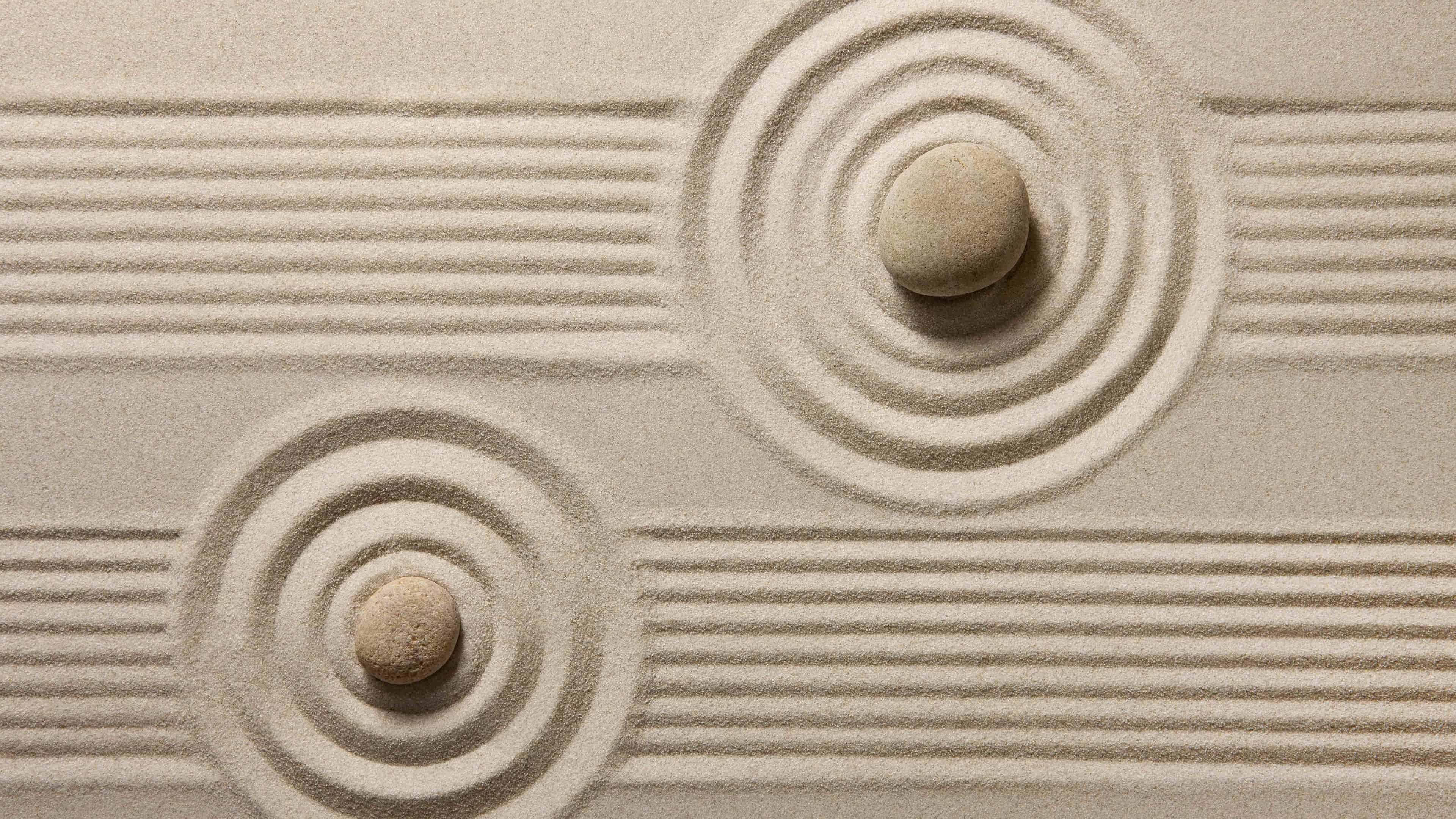 Zen Sand Japanese Rock Garden UHD 4K Wallpaper Pixelz