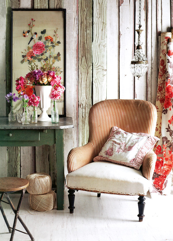vintage and flowers