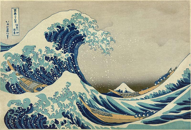 Hokusai Katsushika, Wielka fala w Kanagawa - blog PIXERS