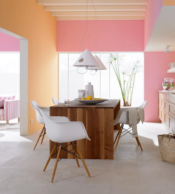 Peach & Pastel Pink Kitchen - PIXERS.pl/blog