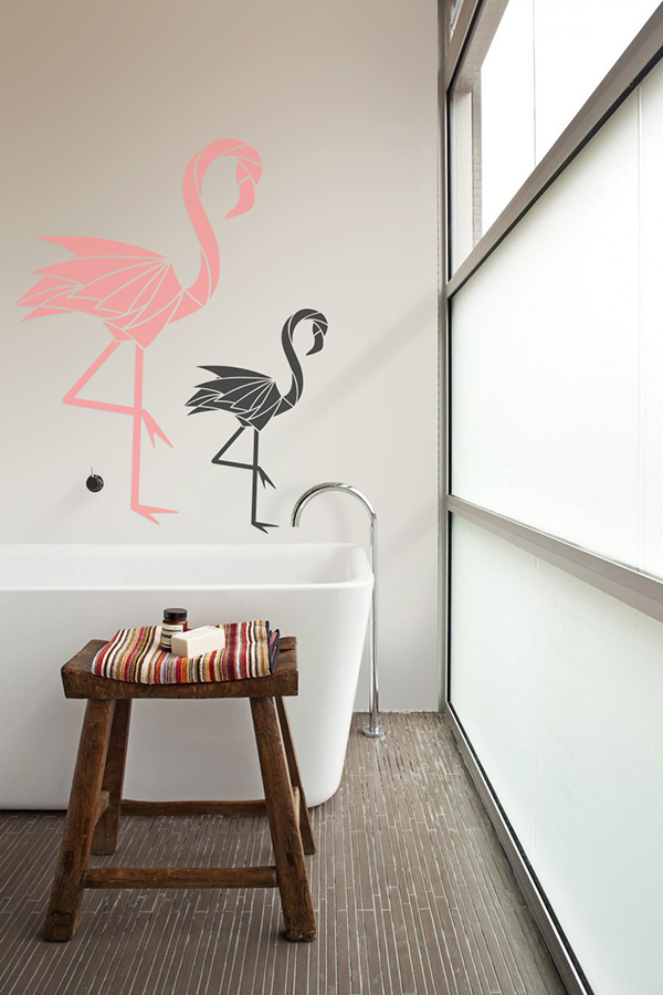 Flamingos Wall Decals by PIXERS